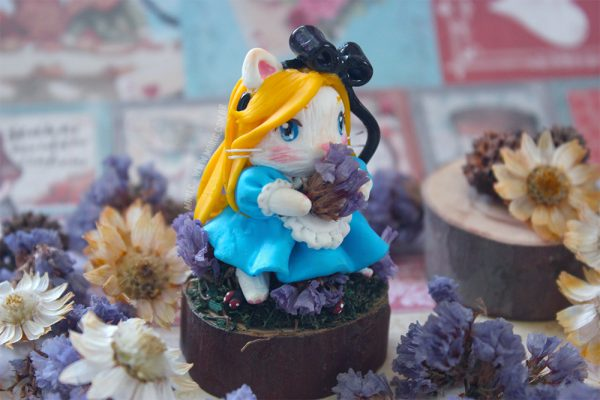 Toy Art Chibi Alice Gato no País das Maravilhas (Alice in Wonderland) 4
